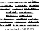 City skyline illustration - stock vector