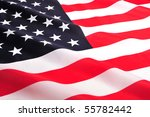 Photo of USA National Flag, close-up - stock photo
