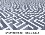 detail of a labyrinth - stock photo
