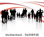 Families and abstract vector - stock vector