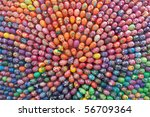 Hand painted easter eggs background - stock photo