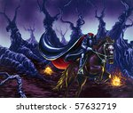 Headless Horseman Painting - stock photo