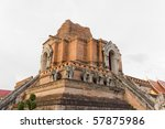 Ancient Pagoda in Northern Thailand - stock photo
