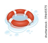 Vector lifebuoy - stock vector