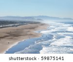 Ocean Beach, San Francisco, California - stock photo
