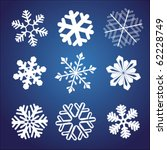 Snowflake winter set vector illustration - stock vector