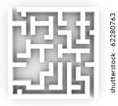 Illustration of the confused labyrinth, puzzle or problem - stock photo