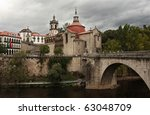 Sao Goncalo Monastery - Amarante - stock photo