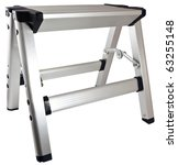 Small Household Aluminum Step Stool Ladder - stock photo