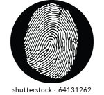 Eye Finger Print - stock vector