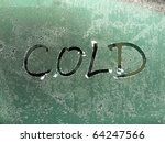 icy cold - stock photo