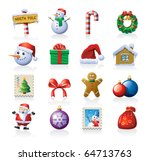 Xmas icon set - stock vector