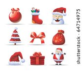 Santa Claus icon set - stock vector