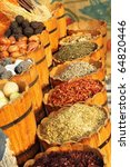 Egyptian spice market - stock photo