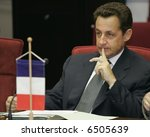 President of the French Republic Nicolas Sarkozy - stock photo