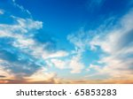 sunset sky - stock photo