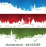 Set of a christmas banners - stock vector