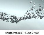 Chrome Abstract Background - stock photo