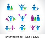 abstract people icon template vector illustration - stock vector