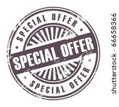 Abstract grunge rubber stamp with the word Special Offer written inside the stamp, vector illustration - stock vector