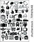 Original Big Icons Set in Vector - stock vector