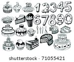 Bday Vector Set - stock vector