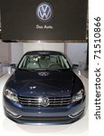 TORONTO - FEBRUARY 17: Volkswagen Passat debuted at the 2011 Canadian International Auto Show on February 17, 2011 in Toronto - stock photo