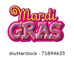 Mardi Gras type treatment - stock photo