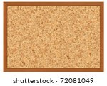 isolated cork board with frame - stock photo
