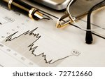 business image of objects and banking statistics - stock photo