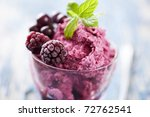 delicious dessert or ice cream, made from fresh berries - stock photo