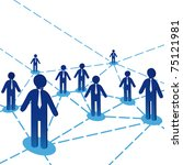 Concept diagram background. Global network net communication icon. People, employee, person vector. Company team chain. Partnership, world illustration. Relation, success. - stock vector