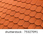 Red tile - stock photo