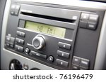 Car stereo panel - stock photo