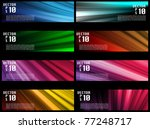 Vectors - Colorful Web Banners Backgrounds - stock vector