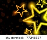 Vector - Glowing Neon Stars Background - stock vector