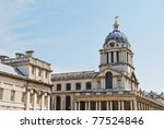 The Chapel of St Peter and St Paul, Queen Mary Court, Old Royal Naval College, Greenwich, London, England, UK - stock photo
