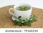 "Iaogulan tea  /Gynostemma pentphyllum/ Jiao Gu Lan  is called  ""China's Immortality Herb"" - stock photo"