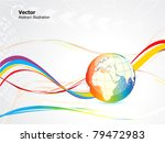 abstract colorful globe design vector illustration - stock vector