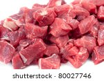 Chunks of lamb meat - stock photo