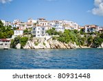 Luxury Island-Skiatos View - stock photo
