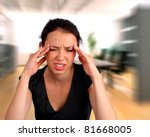 Woman having a headache - stock photo