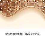 Mosaic color brown illustration a vector design - stock photo