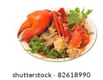 Serving Of Chili Crab - stock photo
