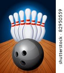 bowling - stock vector