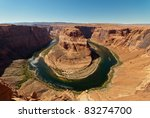 Horseshoe Bend near Page, Arizona - stock photo