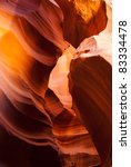 Rock formation in Antelope Canyon near Page, Arizona - stock photo