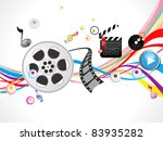 abstract footage action background vector illustration - stock vector