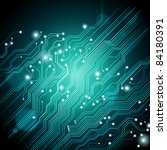high tech background with circuit board texture - JPG VERSION - stock photo