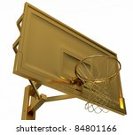 Sport: golden basketball backboard isolated over white background - stock photo